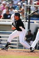 February 25, 2009:  Second baseman Russ Adams (8) of the Toronto Blue Jays during a Spring Training game at Dunedin Stadium in Dunedin, FL.  The New York Yankees defeated the Toronto Blue Jays 6-1.   Photo by:  Mike Janes/Four Seam Images