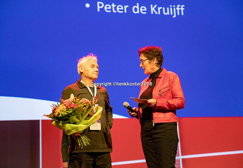 Nieuwegein,  Netherlands, 24 November 2018, KNLTB Year congress KNLTB, Peter de Kruijff<br /> Photo: Tennisimages.com/Henk Koster