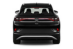 Straight rear view of 2021 Volkswagen ID.4 First-Edition 5 Door SUV Rear View  stock images