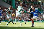 31.03.2019 Celtic v Rangers: Andy Halliday blocked