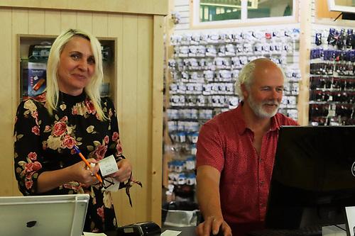 Viking Marine Accounts Manager Halyna Kekosh and Ian O'Meara