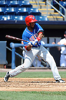 Auburn Doubledays outfielder Wander Ramos (26) during game against the Staten Island Yankees at Richmond County Bank Ballpark at St.George on August 2, 2012 in Staten Island, NY.  Auburn defeated Staten Island 11-3.  Tomasso DeRosa/Four Seam Images