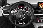 Car pictures of steering wheel view of a 2015 Audi A7 S Line 5 Door Hatchback Steering Wheel