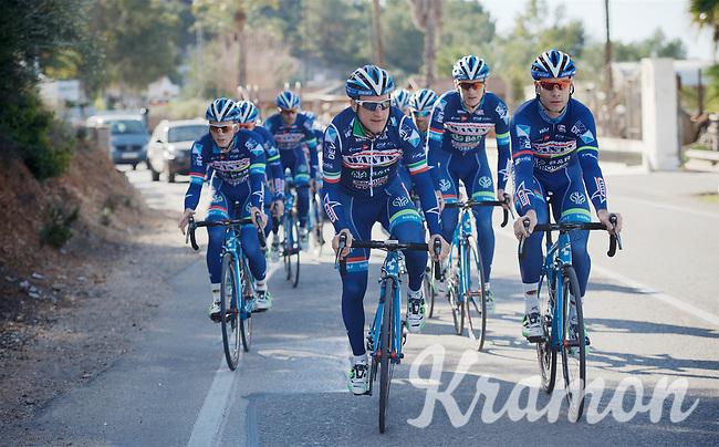 Enrico Gasparotto (ITA/Wanty-Groupe Gobert) & Antoine Demoitié (BEL/Wanty-Groupe Gobert) riding up front<br /> <br /> Pro Cycling Team Wanty-Groupe Gobert <br /> <br /> Pre-season Training Camp, january 2016