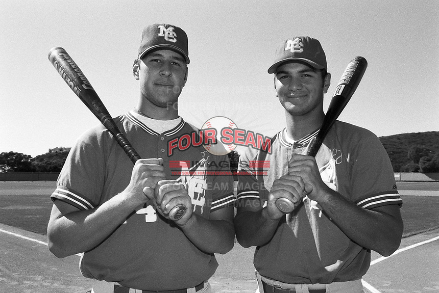 Eric Munson and Eric Chavez of Mount Carmel High School at Mount Carmel H.S. in San Diego,California during the 1996 season. (Larry Goren/Four Seam Images)