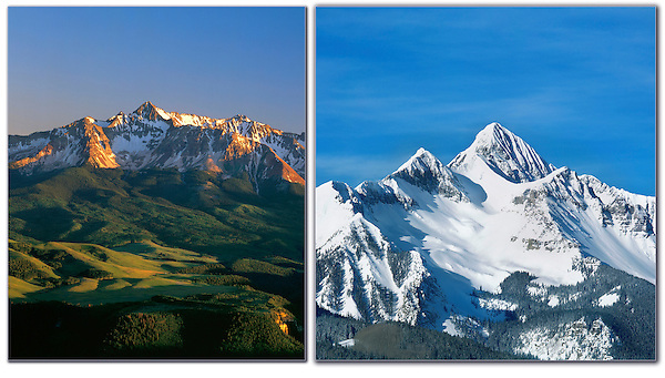 On assignment for Coors Brewery, Wilson Peak (14017 feet), San Juan Mountains, Colorado.