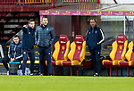 Motherwell v St Johnstone…28.11.20   Fir Park      BetFred Cup<br />Callum Davidson flanked by assistants Steven MacLeand and Alec Cleland<br />Picture by Graeme Hart.<br />Copyright Perthshire Picture Agency<br />Tel: 01738 623350  Mobile: 07990 594431