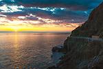 Sunset in Cinque Terre in Italy