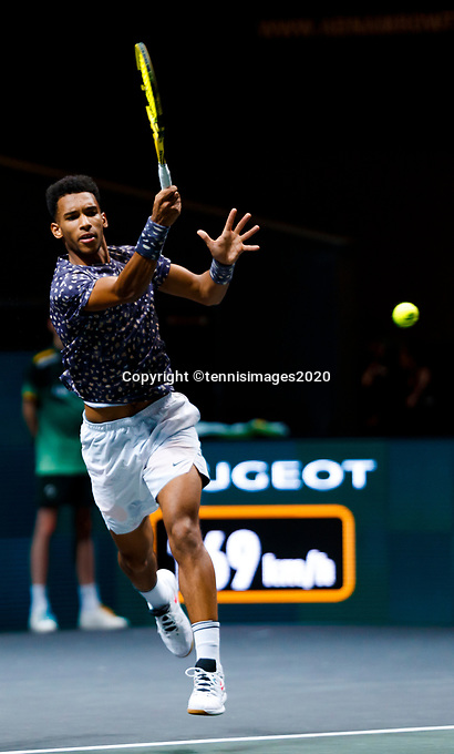Rotterdam, The Netherlands, 14 Februari 2020, ABNAMRO World Tennis Tournament, Ahoy,   Felix Auger-Aliassime (CAN).<br /> Photo: www.tennisimages.com