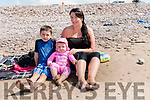 At Rossbeigh Beach on Tuesday<br /> Emma Sheehan with her nephew Matthew Dennehy and her daughter Eabha Sheehan<br /> <br /> <br /> Audio: 20200811_141153.m4a