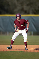 Boston College Eagles left fielder Donovan Casey (30) during a game against the Indiana State Sycamores on February 27, 2016 at North Charlotte Regional Park in Port Charlotte, Florida.  Boston College defeated Indiana State 5-3.  (Mike Janes/Four Seam Images)