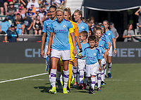 Cary, NC - August 18, 2019:  Manchester City defeated Atletico de Madrid 3-2 during the third place match of the Women's International Champions Cup at WakeMed Soccer Park.