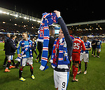 Kenny Miller celebrates