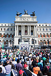 Olive growers demonstration march because of fair price of olive oil in Agriculture Ministry in Madrid. October 10, 2019.. (ALTERPHOTOS/ Francis Gonzalez)