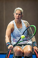 Alphen aan den Rijn, Netherlands, December 18, 2019, TV Nieuwe Sloot,  NK Tennis, Wheelchair womans doubles:   Michaela Spaanstra (NED) <br /> Photo: www.tennisimages.com/Henk Koster