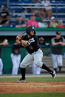 West Virginia Black Bears Kyle Wilkie (10) at bat during a NY-Penn League game against the Batavia Muckdogs on June 27, 2019 at Dwyer Stadium in Batavia, New York.  West Virginia defeated Batavia 6-5 in ten innings.  (Mike Janes/Four Seam Images)