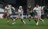 Friday 23rd April 2021; Michael Lowry on the attack for Ulster during the first round of the Guinness PRO14 Rainbow Cup between Ulster Rugby and Connacht Rugby at Kingspan Stadium, Ravenhill Park, Belfast, Northern Ireland. Photo by John Dickson/Dicksondigital