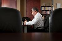 Quebec Health Minister Yves Bolduc at his office in Quebec City / Yves Bolduc, Ministre de la Sante et des Services sociaux, dans son bureau a Quebec January 27, 2011.<br /> <br /> PHOTO :  Francis Vachon - Agence Quebec Presse
