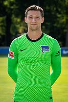 17th August 2020; Berlin, Germany. Hertha Berlin official Bundesliga season portraits, season 2020-21:  Nils Koerber Hertha BSC, No.12