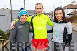 At the Charlie Kerins 10k in Kerins O'Rahilly's on Sunday morning<br /> L to r: David Toomey, John Kennelly and Rachel Stokes.