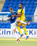 St Johnstone v Falkirk…24.07.18…  McDiarmid Park    Betfred Cup<br />David Wotherspoon and Dennon Lewis<br />Picture by Graeme Hart. <br />Copyright Perthshire Picture Agency<br />Tel: 01738 623350  Mobile: 07990 594431