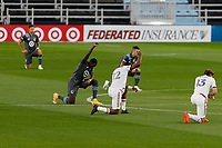 ST PAUL, MN - SEPTEMBER 06: Minnesota United FC and Real Salt Lake Players before a game between Real Salt Lake and Minnesota United FC at Allianz Field on September 06, 2020 in St Paul, Minnesota.