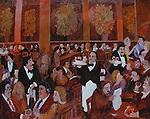 """Cafe des Fleurs""<br /> Limited Edition Giclee 24x30<br /> SN Paper $1,250<br /> SN Canvas $1,250<br /> AP Paper w/Original Watercolor Remarque $1,850"