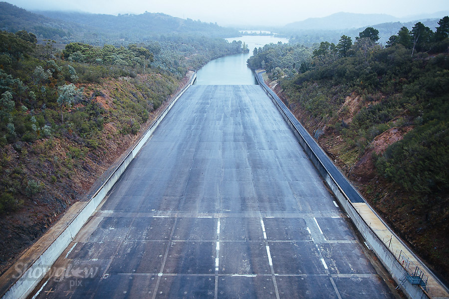 Image Ref: CA307<br /> Location: Lake Eildon over-flow<br /> Date of Shot: 15.04.18