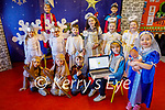 Getting ready for the Nativity play on Zoom in Lisselton NS on Tuesday. Front l to r: Nathan O'Flynn, Cian Houlihan, Darragh Hickey, Aidan Horgan and Niamh O'Mahoney. Back l to r: Ruby Crowshaw Griffin, Kieran Horgan O'Halloran, Cian Deenihan, Caoimhe Leahy, Ruby May Halpin, Ava May Kissane, Jack and Oisin O'Connor.