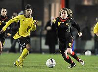 Belgium Dames U19 - selectie brabant jongens U15 :  Lucinda Michez.foto DAVID CATRY / Vrouwenteam.be