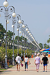 CYPRUS, Larnaca: palm-lined sea-front promenade<br />