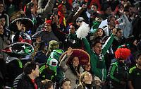 SANTIAGO- CHILE - 15-06-2015: Hinchas de Mexico durante partido Chile y México, por la fase de grupos, Grupo A, de la Copa America Chile 2015, jugado en el estadio Nacional Julio Martinez la Ciudad de Santiago. / Fans of Mexico player during the match between Chile and Mexico, for the group stage Group A of the Copa America 2015 Chile, played at the National Stadium Julio Martinez in Santiago City. Photos: VizzorImage /  Alfredo Gutierrez / Cont.