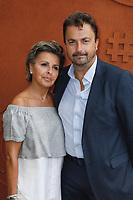 Henri Leconte , Maria Dowlatshahi -Célébrités a Roland Garros-2 juin 2017 -Paris Roland Garros