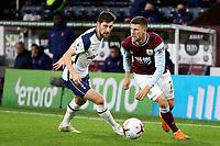 26th October 2020, Turf Moor, Burnley UK; EPL Premier League football, Burnley v Tottenham Hotspur; Burnley midfielder Johann GUDMUNDSSON turns past Ben Davies of Spurs