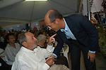 ALBERTO RONCHEY CON MARCO FOLLINI<br /> PREMIO LETTERARIO CAPALBIO 2004