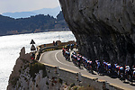 The peloton approach the Ligurian coast during the 112th edition of Milan-San Remo 2021, running 299km from Milan to San Remo, Italy. 20th March 2021. <br /> Photo: Bora-Hansgrohe/Luca Bettini/BettiniPhoto | Cyclefile<br /> <br /> All photos usage must carry mandatory copyright credit (© Cyclefile | Luca Bettini/BettiniPhoto/Bora-Hansgrohe)