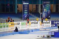 SPEEDSKATING: HEERENVEEN: 24-01-2021, IJsstadion Thialf, ISU World Cup I, 500m Men Division B, Nil Llop (ESP), Christian Oberbichler (SUI), ©photo Martin de Jong