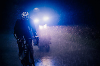 Benoit Cosnefroy (FRA/AG2R-La Mondiale) caught in a torrential rainstorm that hits Stage 7: from Saint-Genix-les-Villages to Pipay  (133km)<br /> <br /> Stage 7: Saint-Genix-les-Villages to Pipay  (133km)<br /> 71st Critérium du Dauphiné 2019 (2.UWT)<br /> <br /> ©kramon