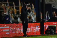 23rd February 2021; Kenilworth Road, Luton, Bedfordshire, England; English Football League Championship Football, Luton Town versus Millwall; A dejected Luton Town Manager Nathan Jones after the 1-1 draw