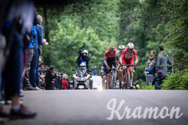 Piet Allegaert (BEL/Cofidis) leading the breakaway group<br /> <br /> 17th Dwars Door Het Hageland 2021<br /> One Day Race: Aarschot – Diest 18Okm (UCI 1.Pro)<br /> Bingoal Cycling Cup 2021<br /> <br /> ©kramon