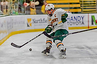 29 December 2018: University of Vermont Catamount Defenseman Matt O'Donnell, a Junior from Fountain Valley, CA, in first period action against the Rensselaer Engineers at Gutterson Fieldhouse in Burlington, Vermont. The Catamounts rallied from a 2-0 deficit to defeat RPI 4-2 and win the annual Catamount Cup Tournament. Mandatory Credit: Ed Wolfstein Photo *** RAW (NEF) Image File Available ***