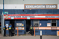 17th April 2021; Kenilworth Road, Luton, Bedfordshire, England; English Football League Championship Football, Luton Town versus Watford; A police presence in and around Kenilworth Road on derby day.