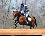 Rider William Fox-Pitt and his mount Sea Cookie on the Rolex Kentucky 3 Day Event cross country course