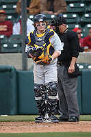 Brett Helmbrecht #55 of the Coppin State Eagles during a game against the Southern California Trojans at Dedeaux Field on February 18, 2017 in Los Angeles, California. Southern California defeated Coppin State, 22-2. (Larry Goren/Four Seam Images)