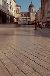 Dubrovnik, Croatia, The centuries of Croatian feet have polished Dubrovnik's central promenade marble paving stones to a remarkable sheen - a World Heritage city on the Adriatic,  .