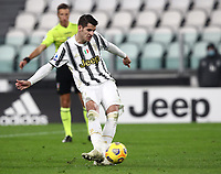 Calcio, Serie A: Juventus FC - S.S.Lazio, Turin, Allianz Stadium, March 6, 2021.<br /> Juventus' Alvaro Morata kicks a penalty and scores his second goal in the match during the Italian Serie A football match between Juventus and Lazio at the Allianz stadium in Turin, on March 6, 2021.<br /> UPDATE IMAGES PRESS/Isabella Bonotto