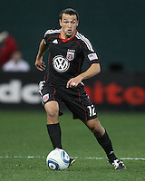 Jed Zayner#12 of D.C. United during the opening match of the 2011 season against the Columbus Crew at RFK Stadium, in Washington D.C. on March 19 2011.D.C. United won 3-1.