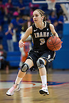 Idaho Vandals guard Krissy Karr (3) in action during the game between the Idaho Vandals and the Texas Arlington Mavericks at the College Park Center arena in Arlington, Texas. Arlington defeats Idaho 60 to 58....