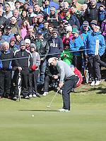 Sunday 31st May 2015; Padraig Harrington, Ireland, putts on the 7th green<br /> <br /> Dubai Duty Free Irish Open Golf Championship 2015, Round 4 County Down Golf Club, Co. Down. Picture credit: John Dickson / DICKSONDIGITAL