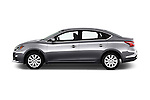 Car Driver side profile view of a 2017 Nissan Sentra S 4 Door Sedan Side View